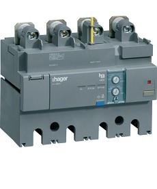 Blok różnicowo-prądowy 4P 630A, regulowany