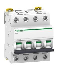 Wyłącznik nadprądowy iC60L-K6-4 C 6A 4-biegunowy SCHNEIDER A9F95406