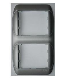 Sistena ramka x2 pionowa aluminium legrand 777306
