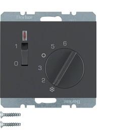 Regulator temperatury pomieszczenia 24V z zestykiem zwiernym, elementem centraln